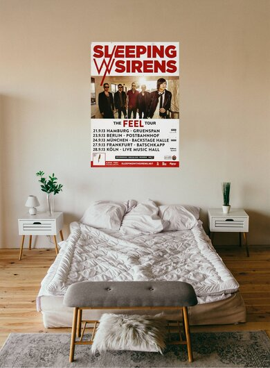 Sleeping With Sirens - The Feel, Tour 2013 - Konzertplakat