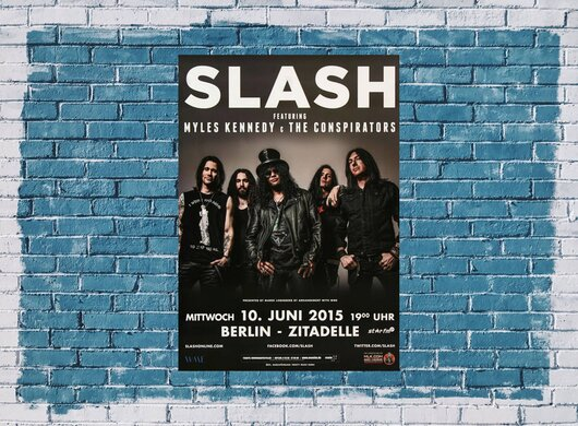 Slash - Bent To Fly , Berlin 2015 - Konzertplakat