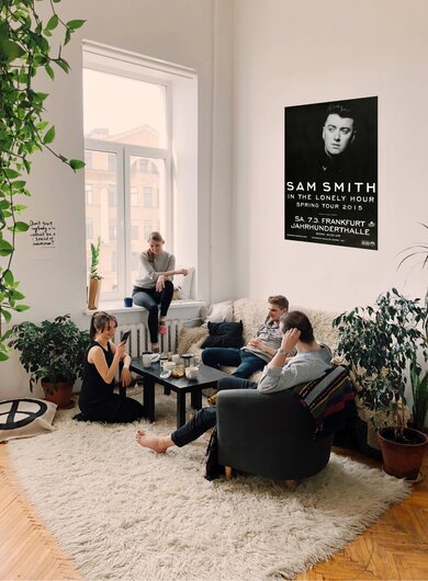 Sam Smith - Lonely Hour , Frankfurt 2015 - Konzertplakat
