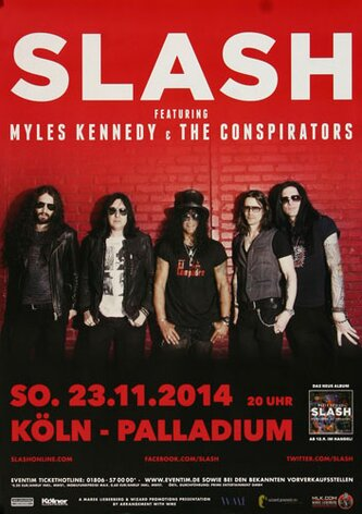 Slash - World On Fire , Köln 2014 - Konzertplakat