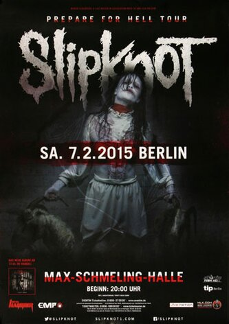 Slipknot - Prepare For Hell , Berlin 2015 - Konzertplakat