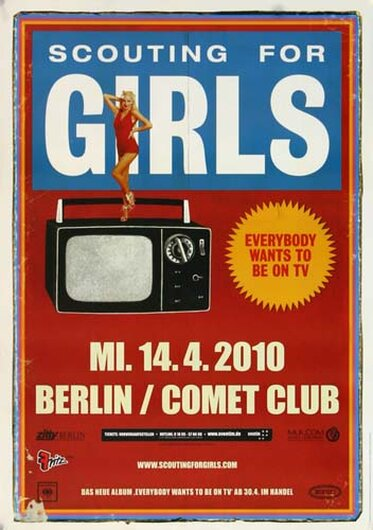 Scouting for Girls - To Be On TV, Berlin 2010 - Konzertplakat
