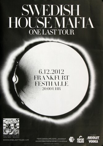 Swedish House Mafia - Black, Frankfurt 2012 - Konzertplakat
