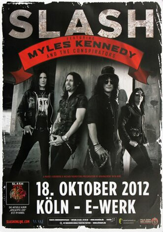 Slash - Youre A Lie, Köln 2012 - Konzertplakat