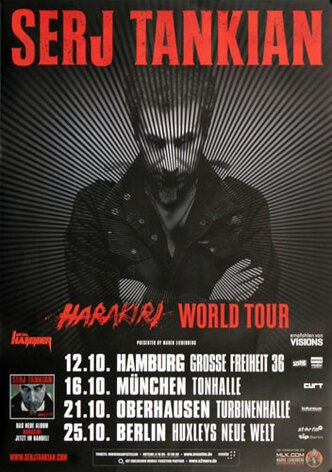 Serj Tankian - Figure It Out, Tour 2012 - Konzertplakat