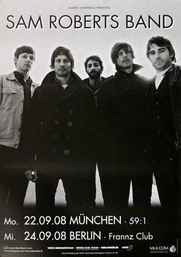 Sam Roberts Band - Love A The End, Mönchengladbach 2008 - Konzertplakat