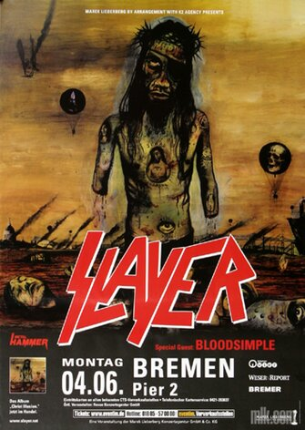 Slayer - Christ Illusion, Bremen 2007 - Konzertplakat