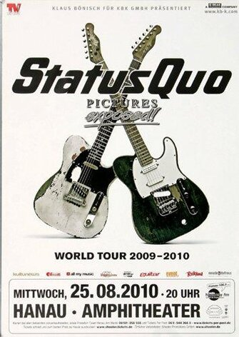 Status Quo - Pictures Exposed, Hanau 2010 - Konzertplakat