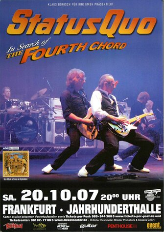 Status Quo - In Search Of, Frankfurt 2007 - Konzertplakat