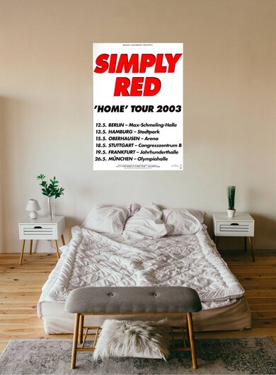 Simply Red - Home, Tour 2003 - Konzertplakat