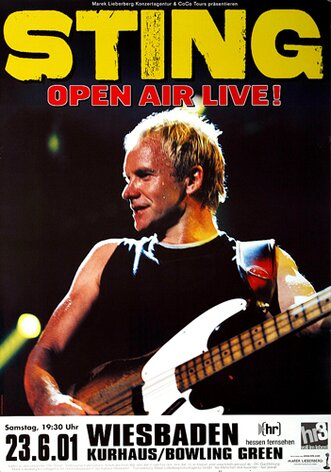 Sting - All This Time, wiesbaden 2001 - Konzertplakat