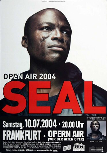 Seal - Open Air , Frankfurt 2004 - Konzertplakat