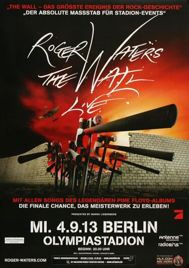 Roger Waters  - The Wall , Berlin 2013 - Konzertplakat