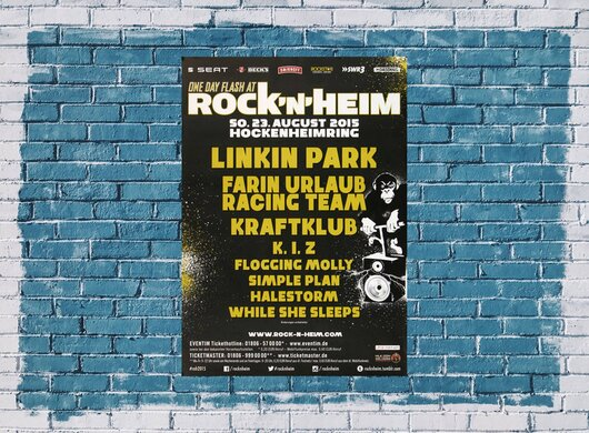 ROCK`N`HEIM - One Day Flash, Hockenheimring 2015 - Konzertplakat