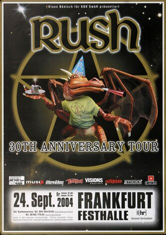 Rush - 30th Tour, Frankfurt 2004 - Konzertplakat