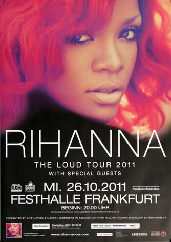 Rihanna - The Loud, Frankfurt 2011 - Konzertplakat