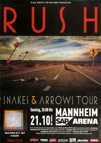 Rush, Snakes & Arrows, MAN, 2007