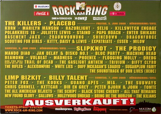 ROCK AM RING & PARK - Gesamtplakat , Rock am Ring 2009 - Konzertplakat