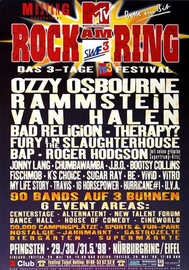 ROCK AM RING & PARK, Rock am Ring 1998