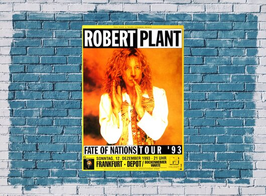 Robert Plant - Fait of Nations, Frankfurt 1993 - Konzertplakat