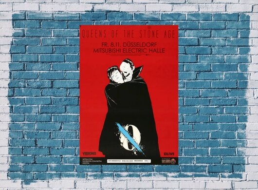 Queens of the Stone Age - Clockwork , Düsseldorf 2013 - Konzertplakat