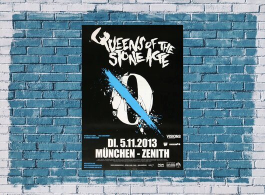 Queens of the Stone Age - Smooth Sailing , München 2013 - Konzertplakat