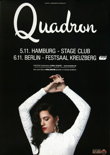 Quadron - Better Off, Hamburg & Berlin 2013 - Konzertplakat
