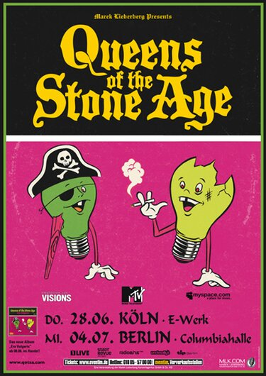 Queens of the Stone Age - Stone Age Live, Köln & Berlin 2007 - Konzertplakat