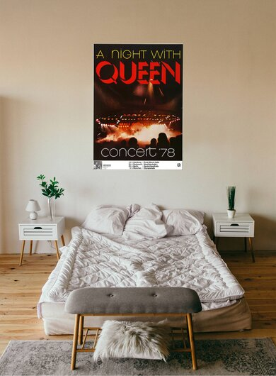Queen - A Night With Queen, Tour 1978 - Konzertplakat
