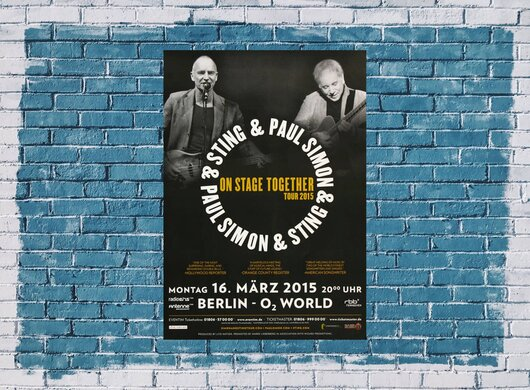 Paul Simon - On Stage , Berlin 2015 - Konzertplakat