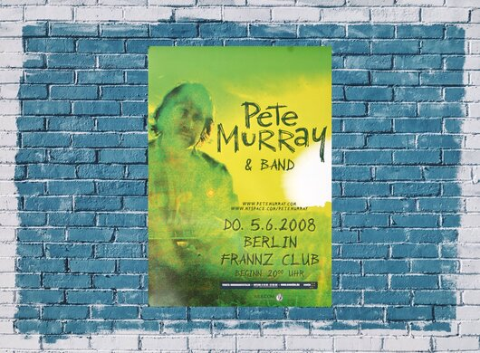 Pete Murray & Band - Live, Berlin 2008 - Konzertplakat
