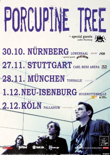Porcupine Tree - The Incident, Tour 2009 - Konzertplakat
