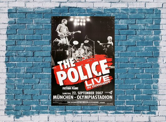 the Police - Certifiable , München 2007 - Konzertplakat