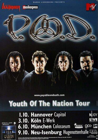P.O.D. - Youth Of The Nation, Tour 2006 - Konzertplakat