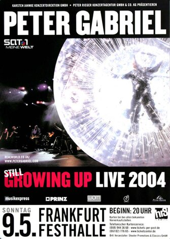 Peter Gabriel - Still Growing Up, FRA, 2004 - Konzertplakat