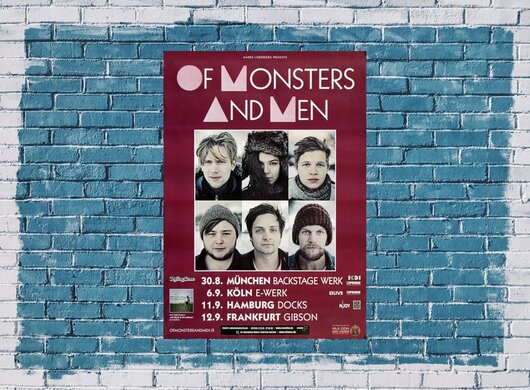 Of Monster And Men - Silhouettes, Tour 2012 - Konzertplakat