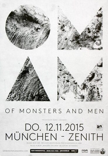 Of Monster And Men - I Of The Storm , München 2015 - Konzertplakat