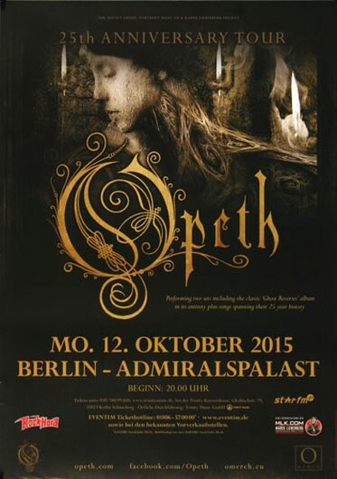 Opeth - Eternity , Berlin 2015 - Konzertplakat