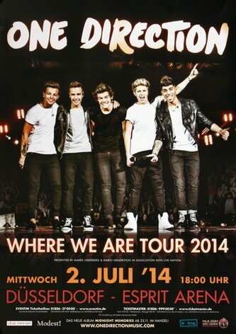 One Direction - Where We Are, Düsseldorf 2014 -...