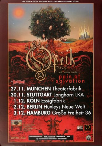 Opeth - Solvation, Tour 2011 - Konzertplakat