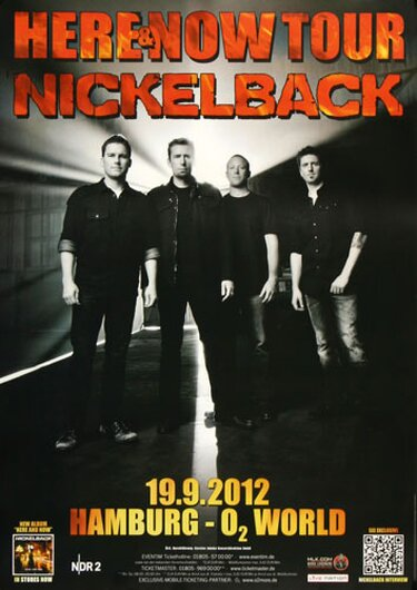 Nickelback - Here And Now , Hamburg 2012 - Konzertplakat