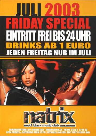 Natrix - Black Music,  2003 - Konzertplakat