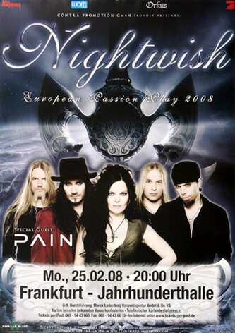 Nightwish - Passion, Frankfurt 2008 - Konzertplakat