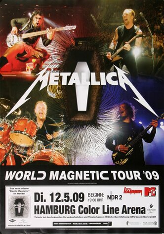 Metallica - World Magnetic , Hamburg 2009 - Konzertplakat