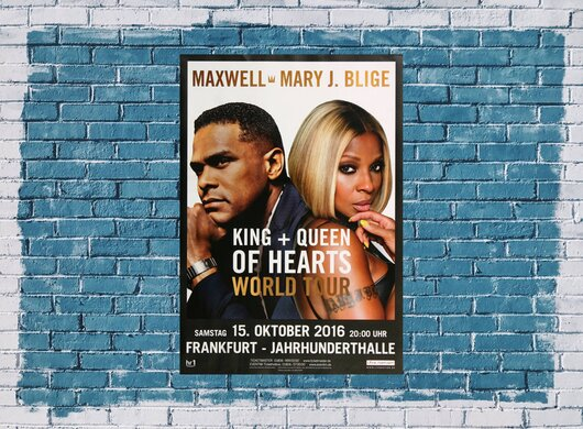 Mary J.Blige - King & Queen, Frankfurt 2016 - Konzertplakat
