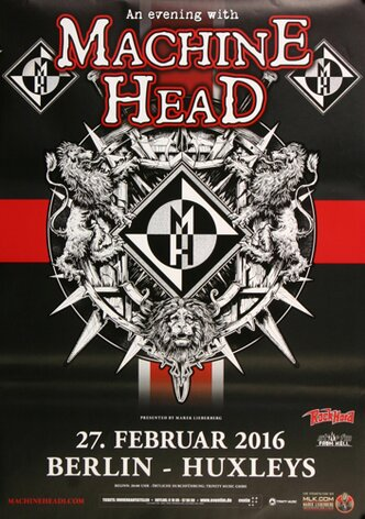 Machine Head - Game Over , Berlin 2016 - Konzertplakat