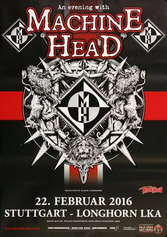 Machine Head - Game Over , Stuttgart 2016 - Konzertplakat