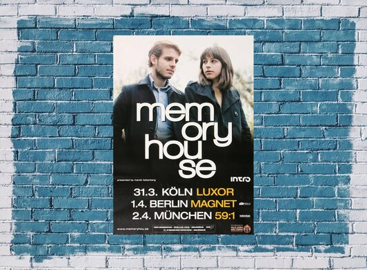 Memoryhouse - The Slideshow, Tour 2012 - Konzertplakat