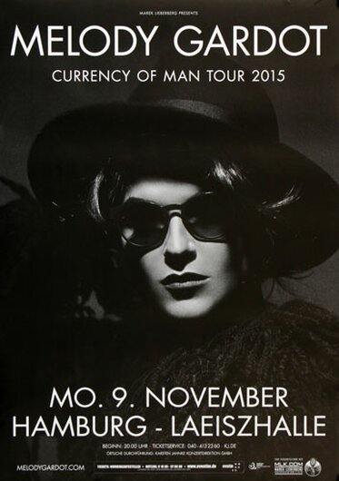 Melody Gardot - Currency Of Men , Hamburg 2015 - Konzertplakat