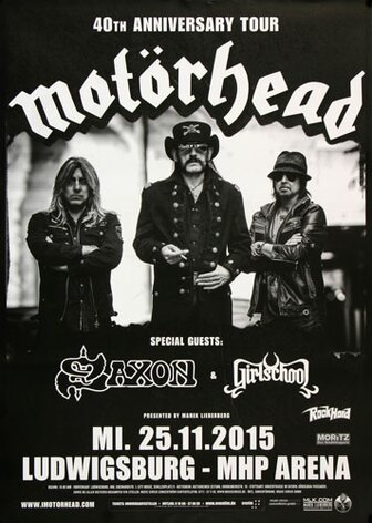 Motörhead  - Black Magic , Ludwigsburg 2015 - Konzertplakat